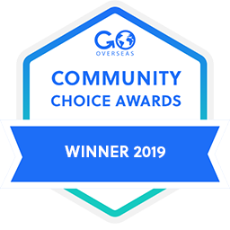 GoOverseas.com Community Choice Awards Winner 2019